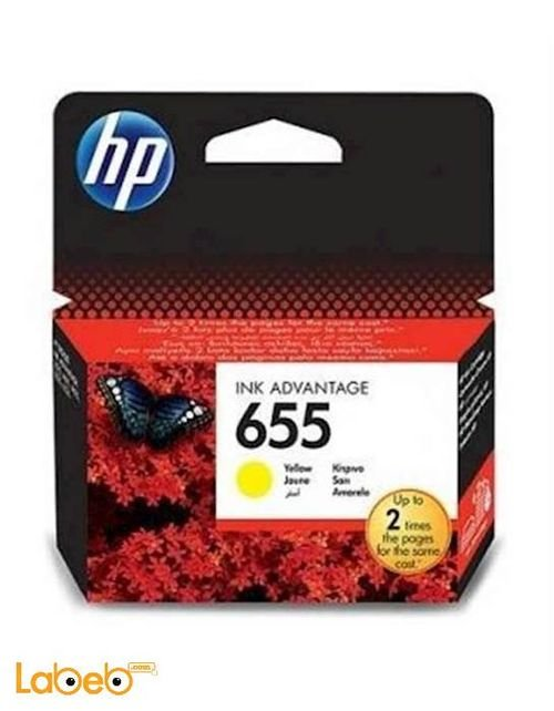 HP 655 Ink Yellow color CZ112AE