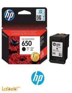 HP 650 Cartridge - Black color - model CZ101AE