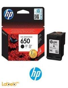 علبة حبر اتش بي 650 - لون أسود - HP CZ101AE