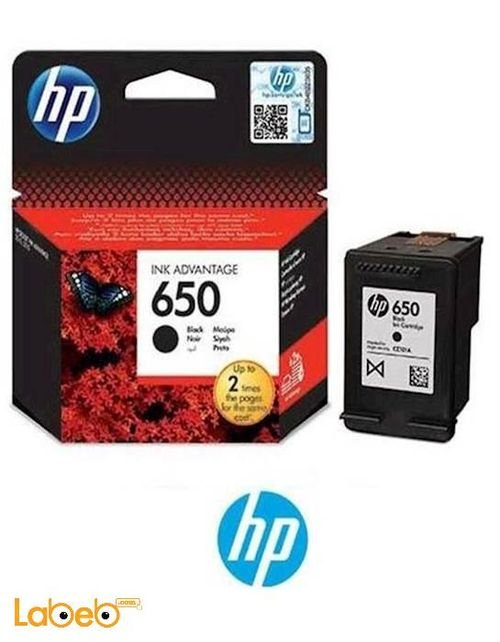 HP 650 Cartridge Black color