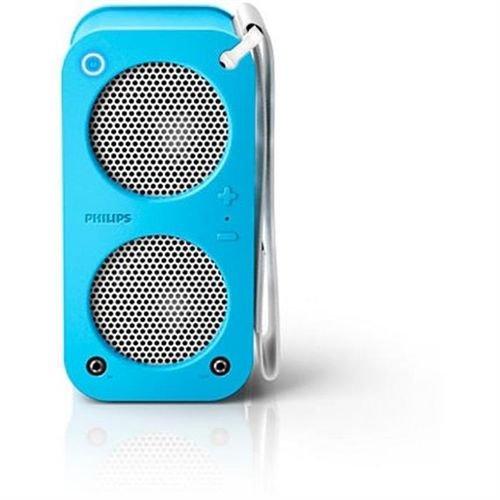 سماعة محمولة فيلبس تعمل بتقنية البلوتوث   - لون أزرق