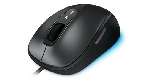 Black Microsoft Comfort Mouse 4500 5 Buttons