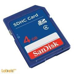 كرت ذاكرة سانديسك - SDHC- ذاكرة 4 جيجا - فئة 4 - SDSDB-004G-B35