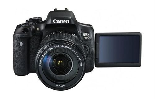 Black Canon EOS 750D screen 18-135mm Lens 24MP DSLR Camera