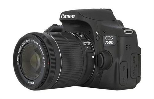 Canon EOS 750D side 18-135mm Lens 24MP DSLR Camera - Black color
