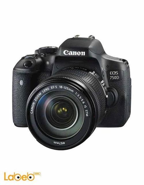Canon EOS 750D 18-135mm Lens 24MP DSLR Camera Black color