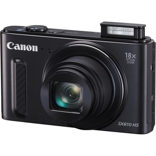 Black Canon PowerShot SX610 20MP Digital Camera