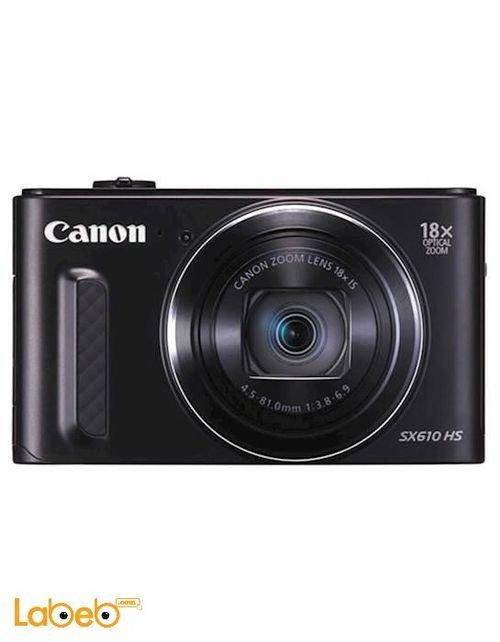 كاميرا باور شوت كانون 20MP زوم 18x أسود SX610