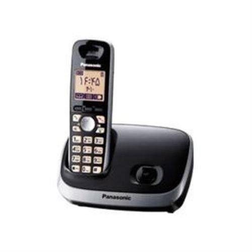 الهاتف لاسلكي باناسونيك- مكبر صوت- قفل - ذاكرة 100 اسم-  KX-TG6511BXB