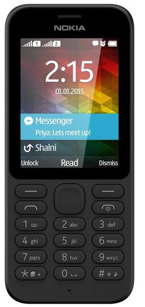 Nokia 215 mobile 2GB Dual Sim Black color