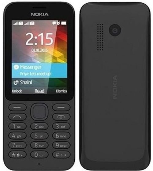 Nokia 215 mobile screen and back 2GB 2.4 inch Dual Sim Black color