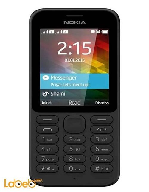 Nokia 215 mobile 2GB 2.4 inch Dual Sim Black color