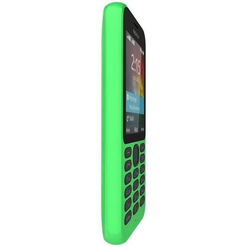 side Nokia 215 2.4-inch Dual Sim phone Green