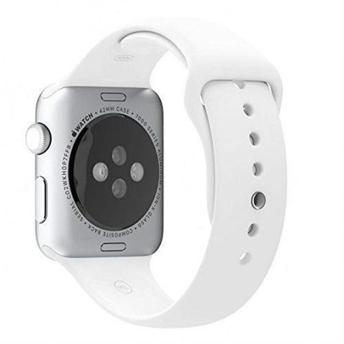 Apple Sport Watch 38mm Silver Aluminum Case White Sport Band