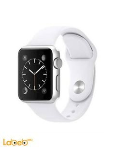 Apple Sport Watch - 38mm Silver Aluminum Case - White Sport Band
