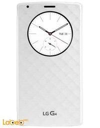 غطاء حماية LG G4 كويك سيركل إل جي أبيض