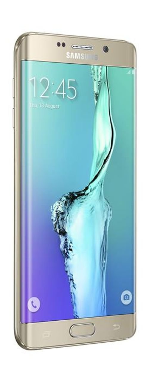 side Samsung Galaxy S6 Edge plus smartphone 64 GB Gold