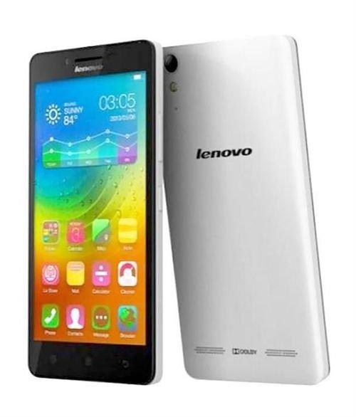 side Lenovo A6000 Smartphone 8GB white  Dual SIM