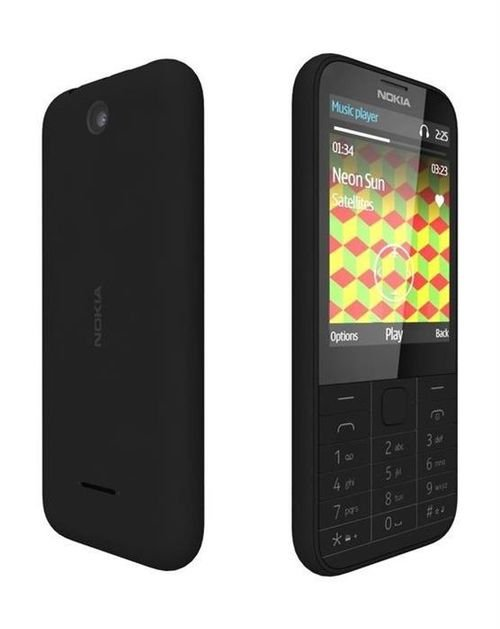 Nokia 225 8MB 2MP 2.8-Inch Dual Sim Phone Black color