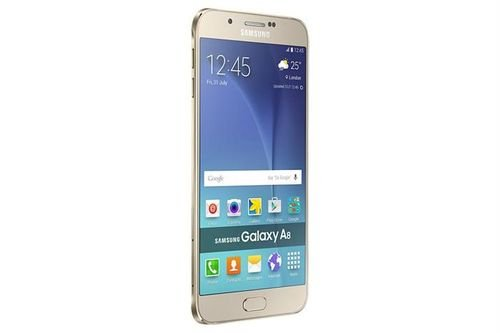 side Samsung Galaxy A8 Smartphone 32GB gold color
