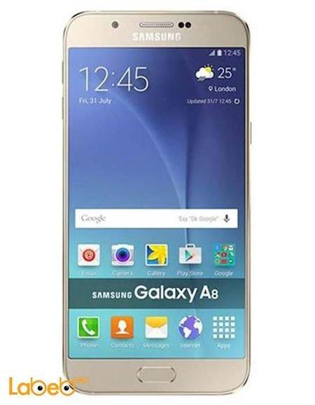 شاشة موبايل سامسونج جلاكسي A8 ذاكرة 32GB ذهبي