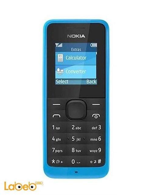 Nokia 105 Dual-SIM Phone 8MB 1.4inch Cyan NOKIA 105