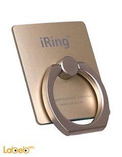 مسكة وحامل اي رينج - للهواتف الذكية - لون ذهبي - IRING-GOLD