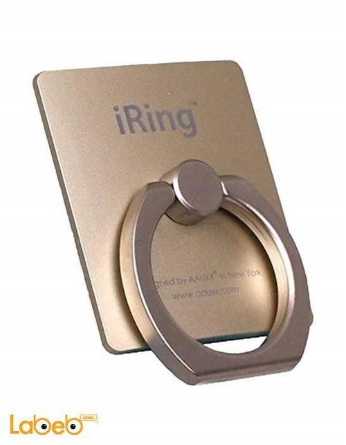 مسكة وحامل أي رينج للهواتف الذكية ذهبي IRING-GOLD
