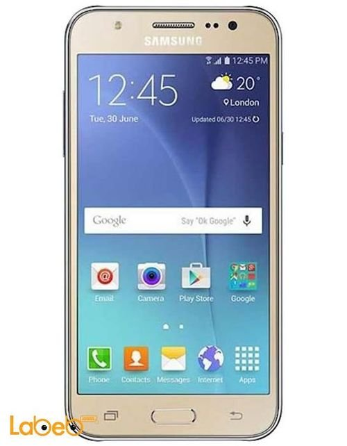 Samsung Galaxy J5 smartphone screen 8GB 5 inch Gold color