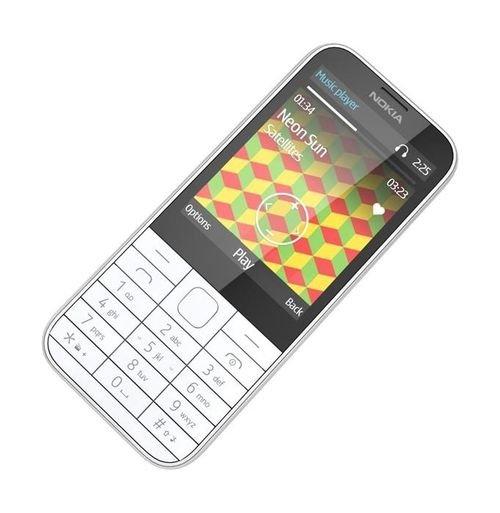 موبايل نوكيا 225 8 ميجابايت 2.8 انش لون أبيض NOKIA 225