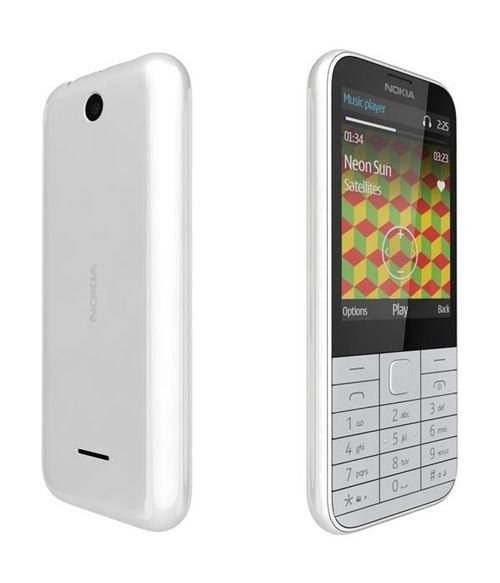 Nokia 225 Phone 8MB 2MP 2.8Inch Dual Sim White