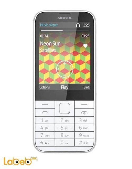 Nokia 225 Phone 8MB 2MP 2.8Inch Dual Sim White color