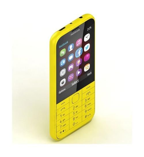 Nokia 225 Phone side 8MB 2MP 2.8Inch Dual Sim Yellow color