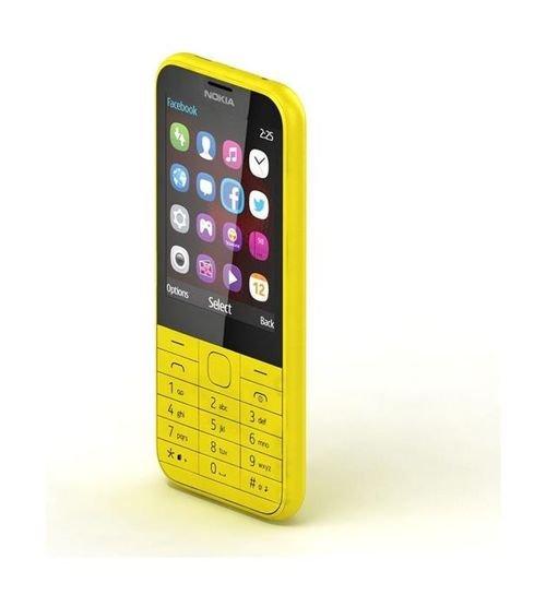 Nokia 225 Phone 8MB 2MP Dual Sim Yellow color