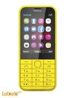 موبايل نوكيا 225 8 ميجابايت 2.8 انش لون أصفر NOKIA 225