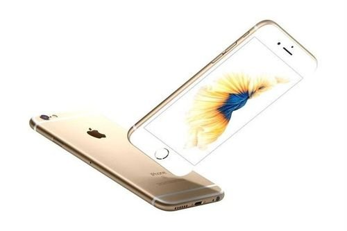 side Apple iPhone 6S Plus smartphone 64GB Gold color