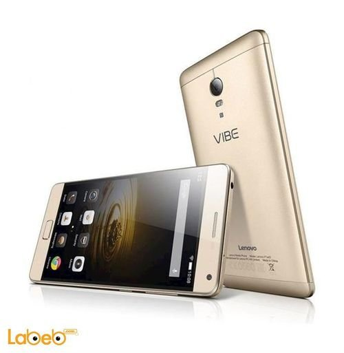 Gold Lenovo Vibe P1 smartphone back and screen