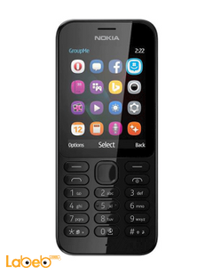 Microsoft Nokia 222 2MP Dual Sim Smartphone - Black color - Nokia 222