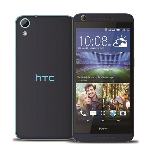 Blue HTC Desire 626 screen and back