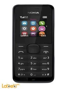 Nokia 105 - 2G - Black color - model NOKIA 105