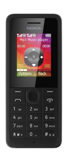 Nokia 108 Dual-SIM Phone - 4MB Ram - 2G - Black - DS RM-94