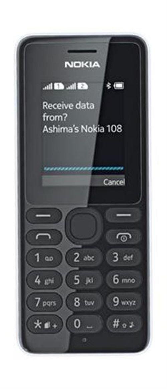 White Nokia 108 mobile Dual SIM