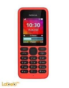 موبايل نوكيا 130 - يدعم خطين - 1.8 انش - أحمر - NOKIA 130 DUAL SIM