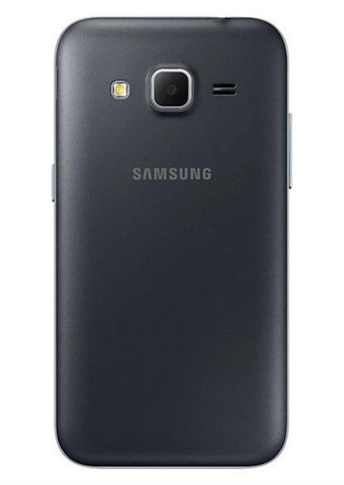 Black Samsung Galaxy Core Prime smartphone back