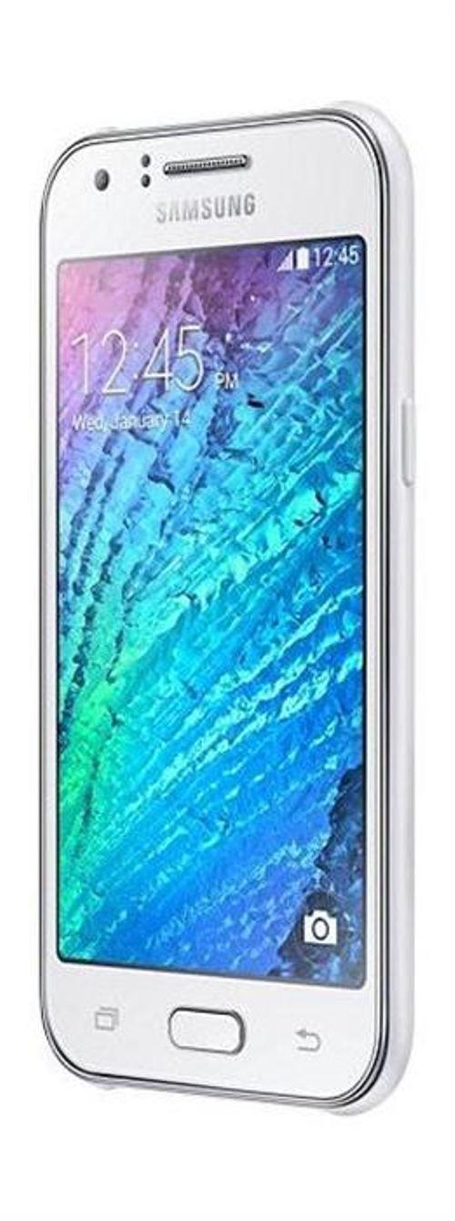 White Samsung Galaxy J1 smartphone SM-J100H