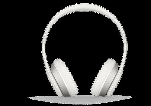 White color Beats Solo2 On Ear 900-00135-03 model