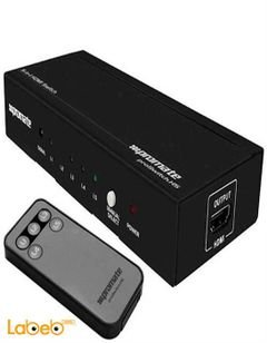 Promate - HDMI Mini Switch 5 in/1 out - black color - PROSWITCH.H5