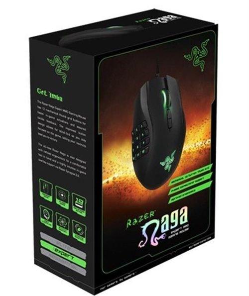 علبة ماوس الألعاب ريزور ناجا لون اسود موديل MOUSE-URAGE-PC
