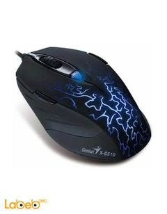 Genius Wired Gaming Mouse - Black color - MOUSE X-G510