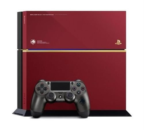 جهاز بلاي ستيشن 4 سوني 500GB يد تحكم+لعبة أحمر PS4-CONS+MGS-Red/B